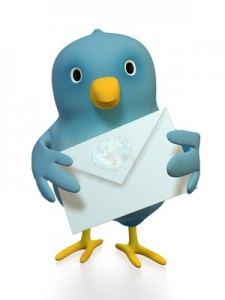A blue bird with a love letter